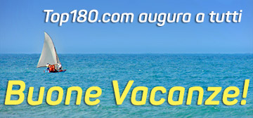 chiusura estiva top180.com - buone vacanze!