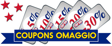 coupons omaggio -5% -10% -15% -20% -30%
