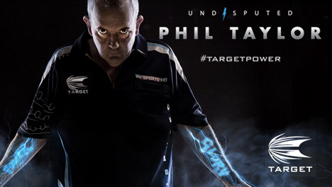 new range Phil Taylor - Undisputed - Target Darts
