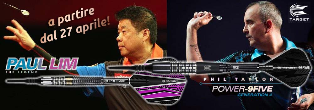 Paul Lim - The Legend | Phil Taylor - Power 9five 4G - Target su TOP180.com dal 27 aprile 2017