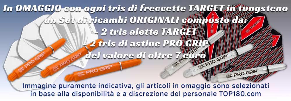 Promozione TARGET - per ogni tris in tugsteno ricevi in OMAGGIO un set di ricambi originali del valore di 7 euro