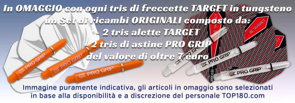 Promozione TARGET - per ogni tris in tungsteno ricevi in OMAGGIO un set di ricambi originali del valore di 7 euro