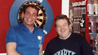 1989 - Bobby George with Noel in the first TOP 180 shop in Quinto di Treviso.