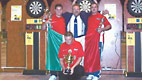 2001 - World Soft tip Championship at the Palazzo del Turismo in Jesolo (VE). British National Under-21 members.