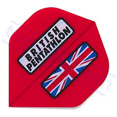 SET 3 FLIGHTS BRITISH PENTATHLON RED - Pentathlon