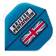 SET 3 FLIGHTS BRITISH PENTATHLON BLUE - Pentathlon