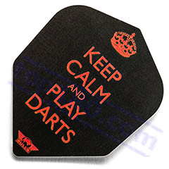 SET 3 ALETTE KEEP CALM AND PLAY DARTS - Bull's
