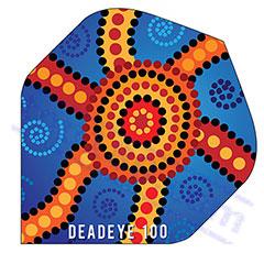 SET 3 ALETTE BLUE STAR 100 MICRON - Deadeye Darts