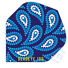 SET 3 ALETTE BLUE DROPLETS 100 MICRON - Deadeye Darts