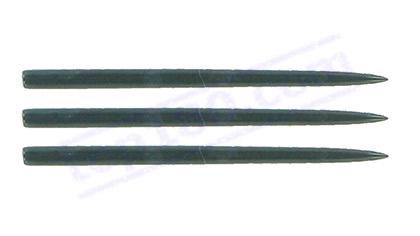 SET 3 PUNTE ACCIAIO PER STEEL DART - BLACK STEEL DART-POINT - Top180