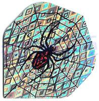 SET 3 ALETTE HOLOGRAM SPIDERWEB ARGENTO - Top180