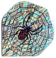 SET 3 ALETTE HOLOGRAM SPIDERWEB ARGENTO - Top180
